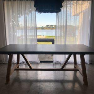 Mesa comedor HERCULES - 2.20 x 1 mt